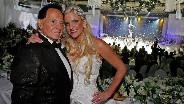 Happier times: Geoffrey and Brynne Edelsten on their wedding day in 2009.