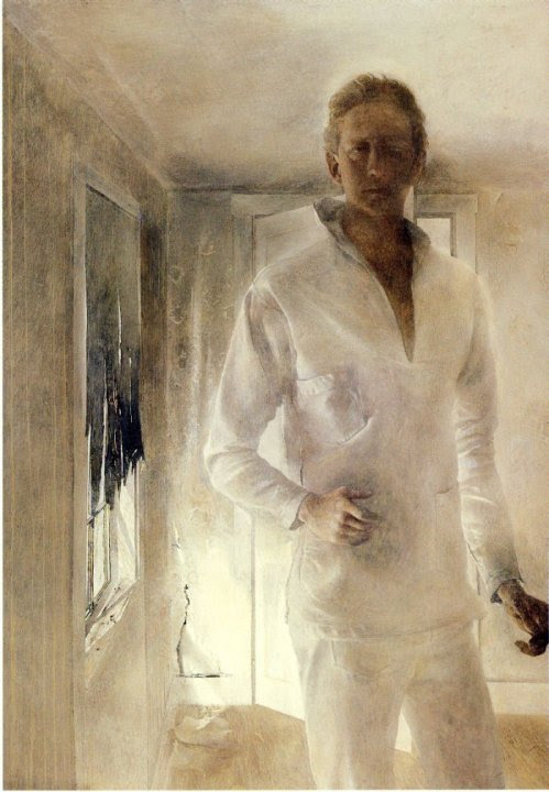 paperimages:  Andrew Wyeth self-portrait, 1949