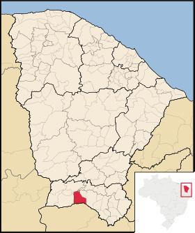 Localização de Santana do Cariri
