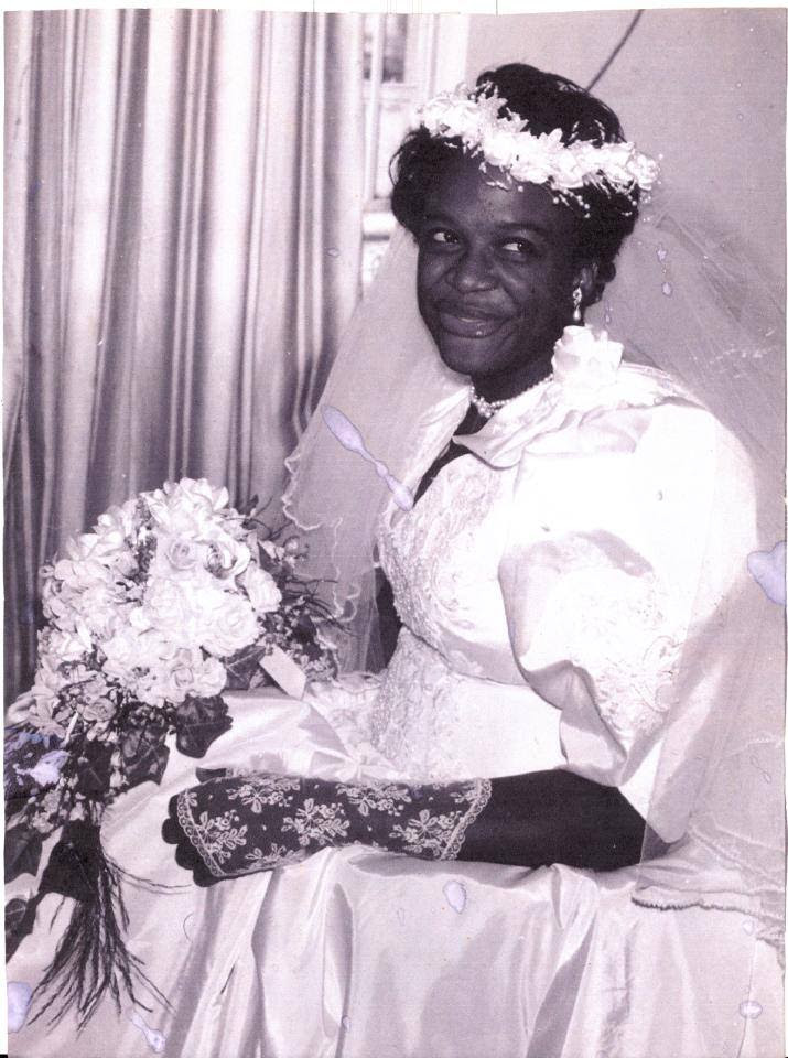 Amaka Igwe on her wedding day
