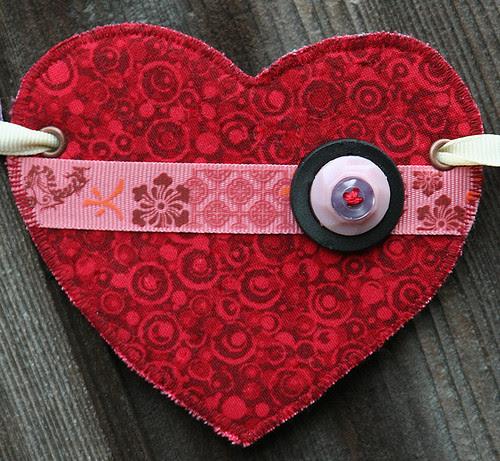 Heart garland: third heart
