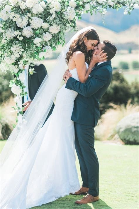 White & Green New Zealand Mountain Wedding in 2019   Just