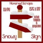 Snowy Sign (CU)