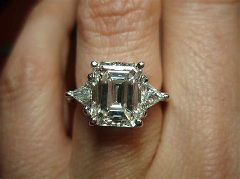 emerald cut w/ trillion side stones   @Liz Duffy : THIS is