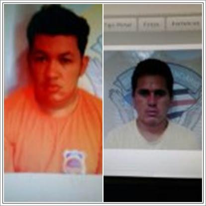 Sandro Rodrigo de Sousa ou Marcos Maia Rodrigues (de laranja, ele usa dois nomes) e Sebastião de Sousa Macario