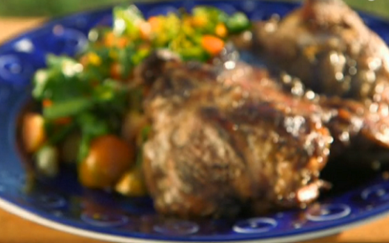 Phil Vickery Grilled lamb with herb salad lovage recipe on ...
