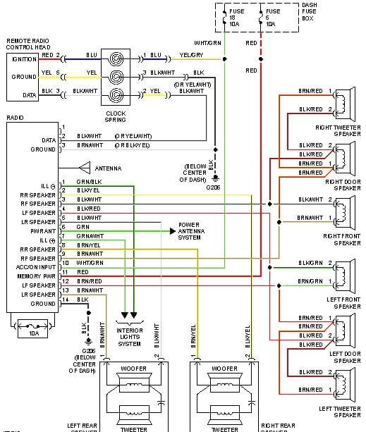 2002 Hyundai Elantra Radio Connector Wiring Diagram