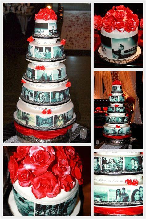 Edible Photo Wedding Cake   CakeCentral.com