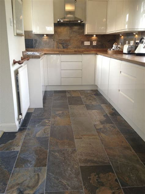 slate floor tile kitchen ideas earth decor