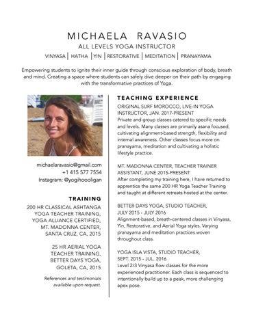 Sample Cv For Yoga Instructor Sample Site E