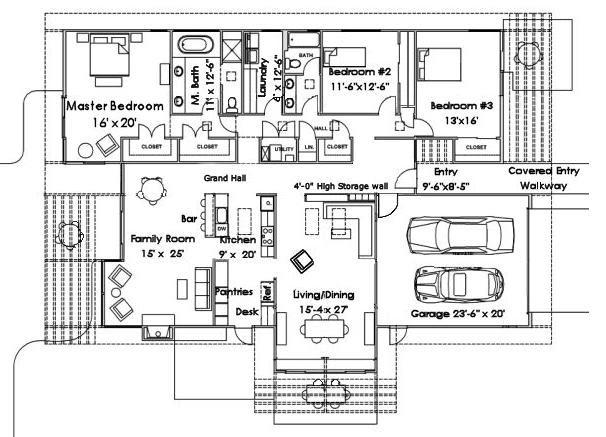 Planos De Casas Para Dibujar