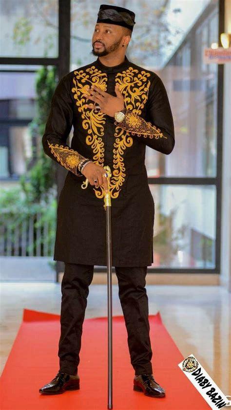 pin  jeneba dukuray  men bazin african fashion