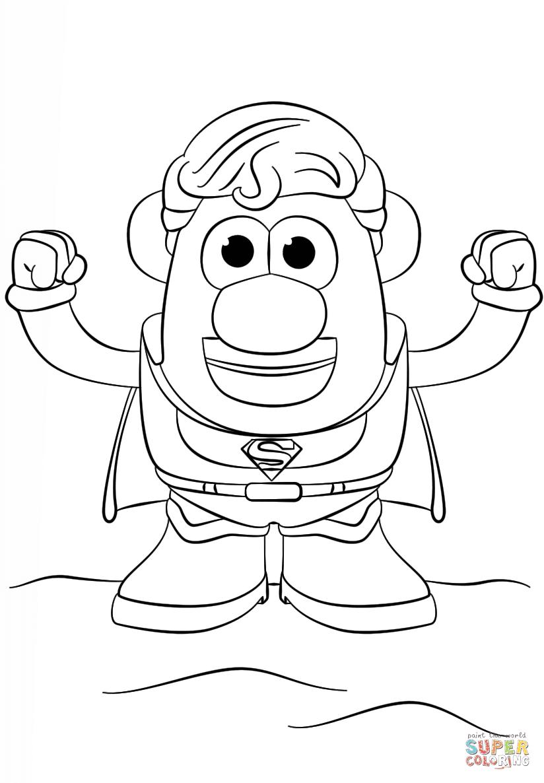 Mr Potato Head Printable Coloring Pages Super Kins Author