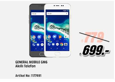 General Mobile GM6 Akilli Telefon 699TL