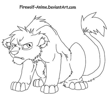 grumpy lion cub  firewolf anime  deviantart