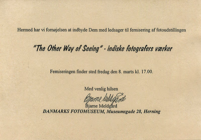 etxt of invitation 'the Other Way of Seeing', Herning Denmark