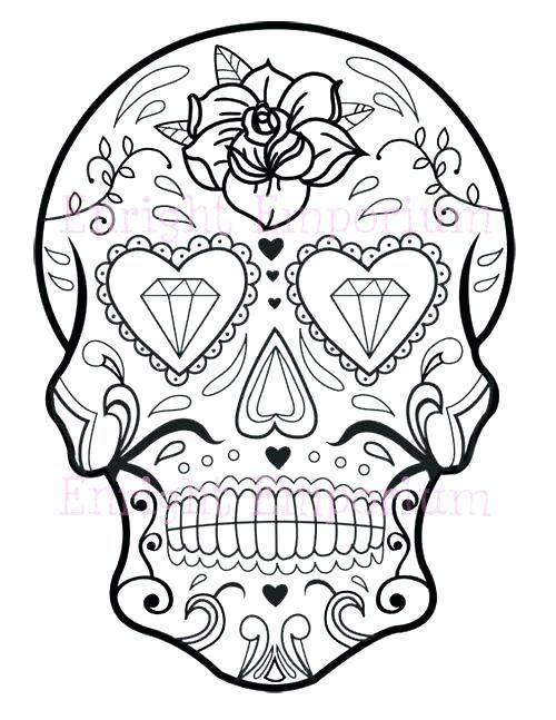 Coloring Pages Sugar Skulls - Bilscreen