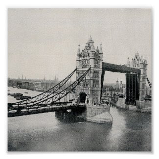 The Tower Bridge, London 1913 print
