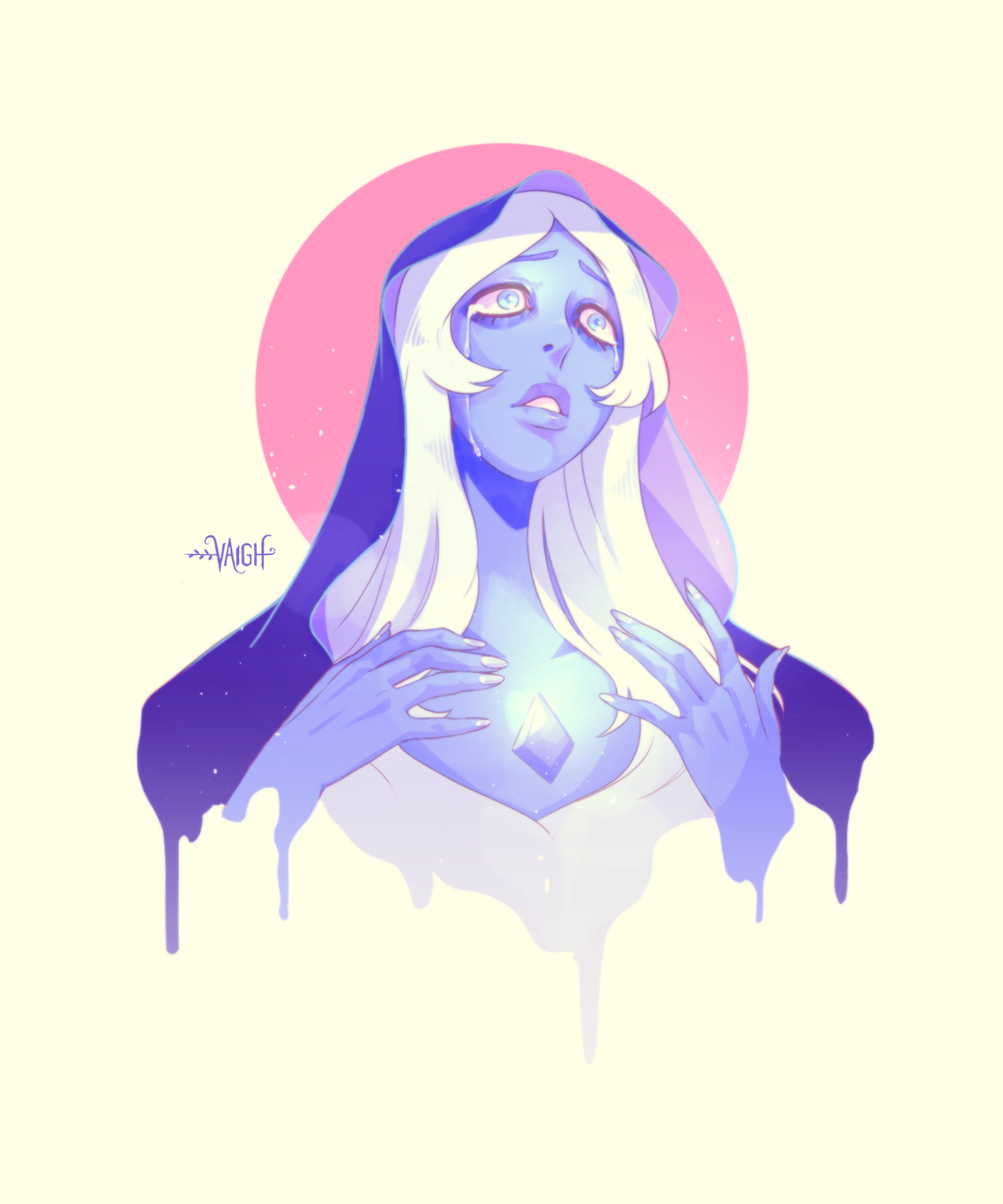 Not that big a fan of SU, but I'm most certainly a fan of Blue Diamond's appearance. :'3 I couldn't help myself. http://twitter.com/vaiigh http://instagram.com/vaiigh