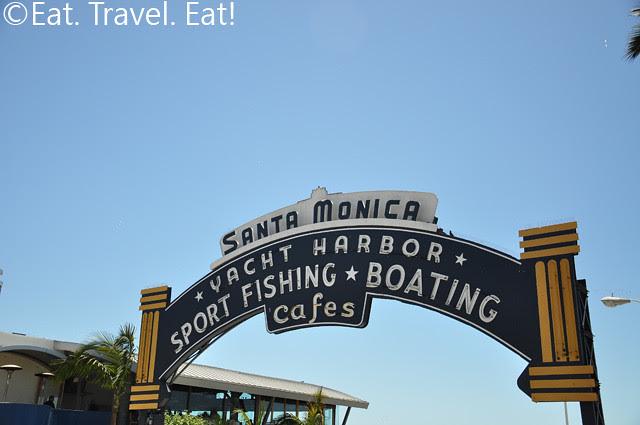 Santa Monica Pier Sign 1