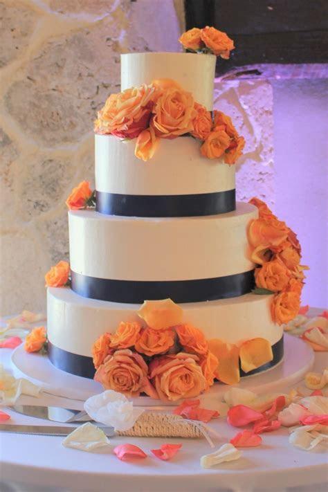 Peach and Blue Buttercream Wedding Cake ? Johnson's Custom