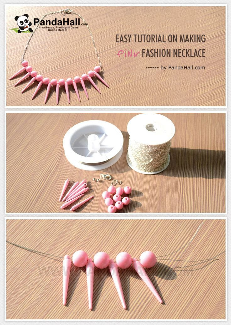 Easy Tutorial on Making Pink Fashion #DIY #necklace