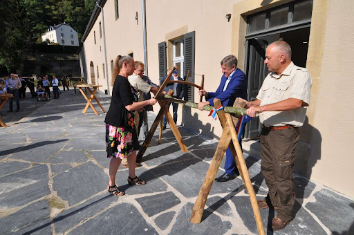 François Bausch et Carole Dieschbourg à l'inauguration du nouveau bâtiment administratif de l'ANF au château de Schoenfels - Gouvernement Luxembourgeois