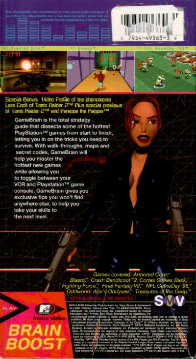 MTV Game Brain VHS back