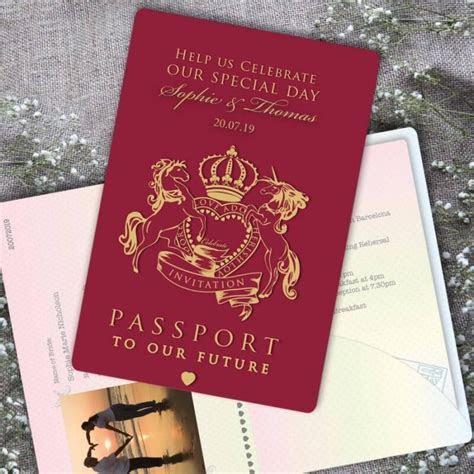Passport to Love Wedding Invitation   Paper Themes Wedding