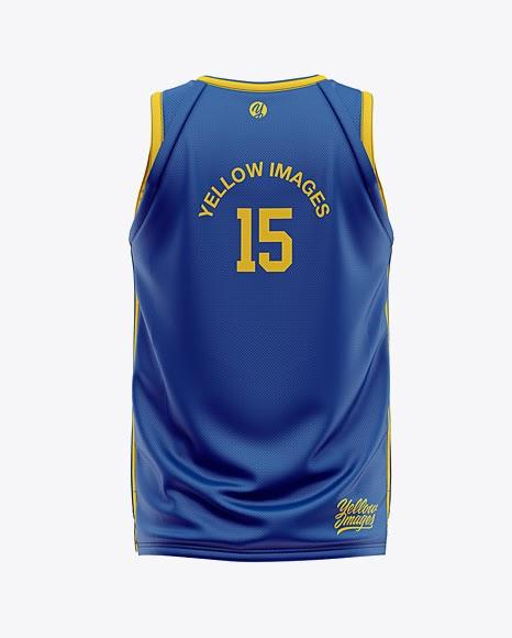 Download Free Men's Basketball Jersey Mockup - Back View (PSD)