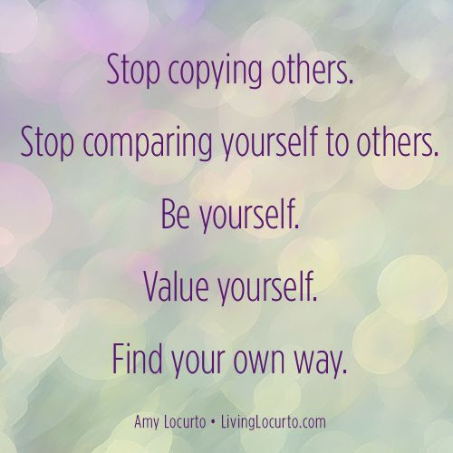Mmgs English Blog At Pmcurie Stop Comparing Yourself
