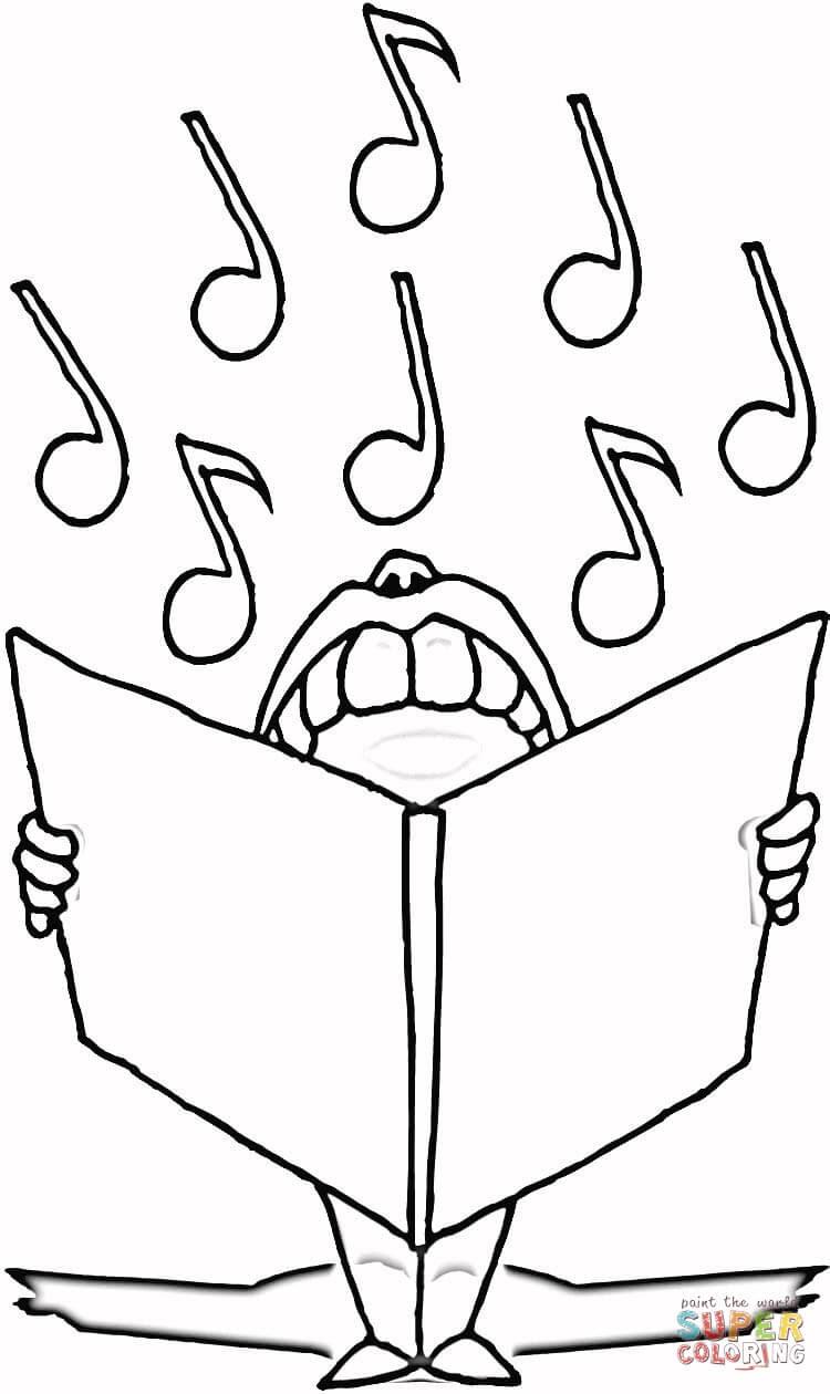 Dibujo De Notas Musicales Para Colorear Dibujos Para Colorear