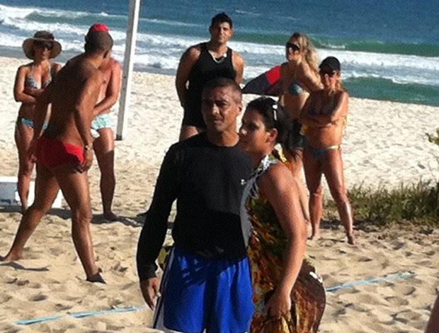 Romario na Praia (Foto: Globoesporte.com)