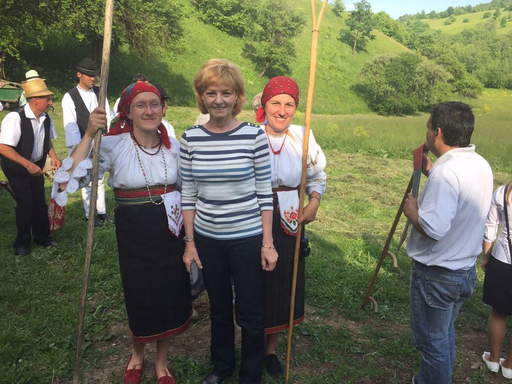 Principesa Margareta și Principele Radu, împreună cu Principele de Wales în Valea Zălanului