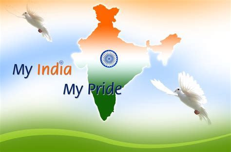 My India My Pride India Map Wallpaper Of 15 August Indian