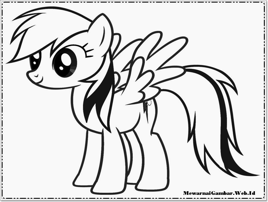 Gambar Mewarnai Kuda Poni Terbaru Halaman Mewarnai Anak