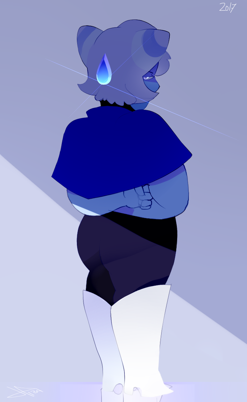 Angry blue gems~