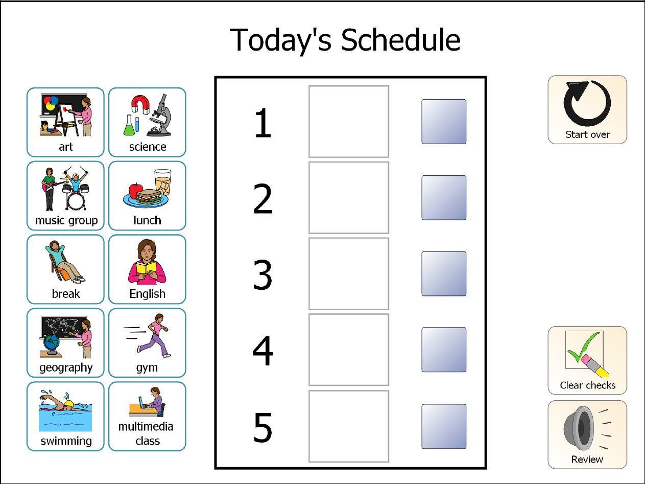 Daily Visual Schedule Autism | Daily Agenda Calendar