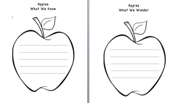 Apple Lesson Plans Kwl Template For Apples Free Printable Clip