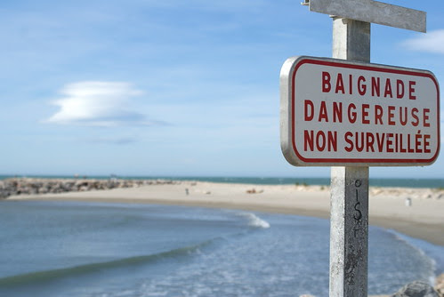 baignade dangereuse