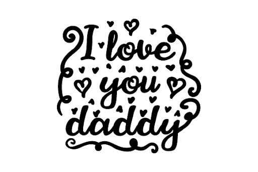 Download I love you daddy SVG Cut Files