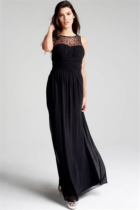 Black Embellished Neck Maxi Dress   from Little Mistress UK