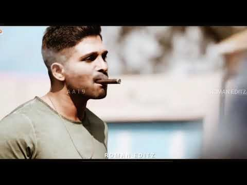 🔥| Allu Arjun |🔥 mass bgm | bad smoker boys attitude WhatsApp status