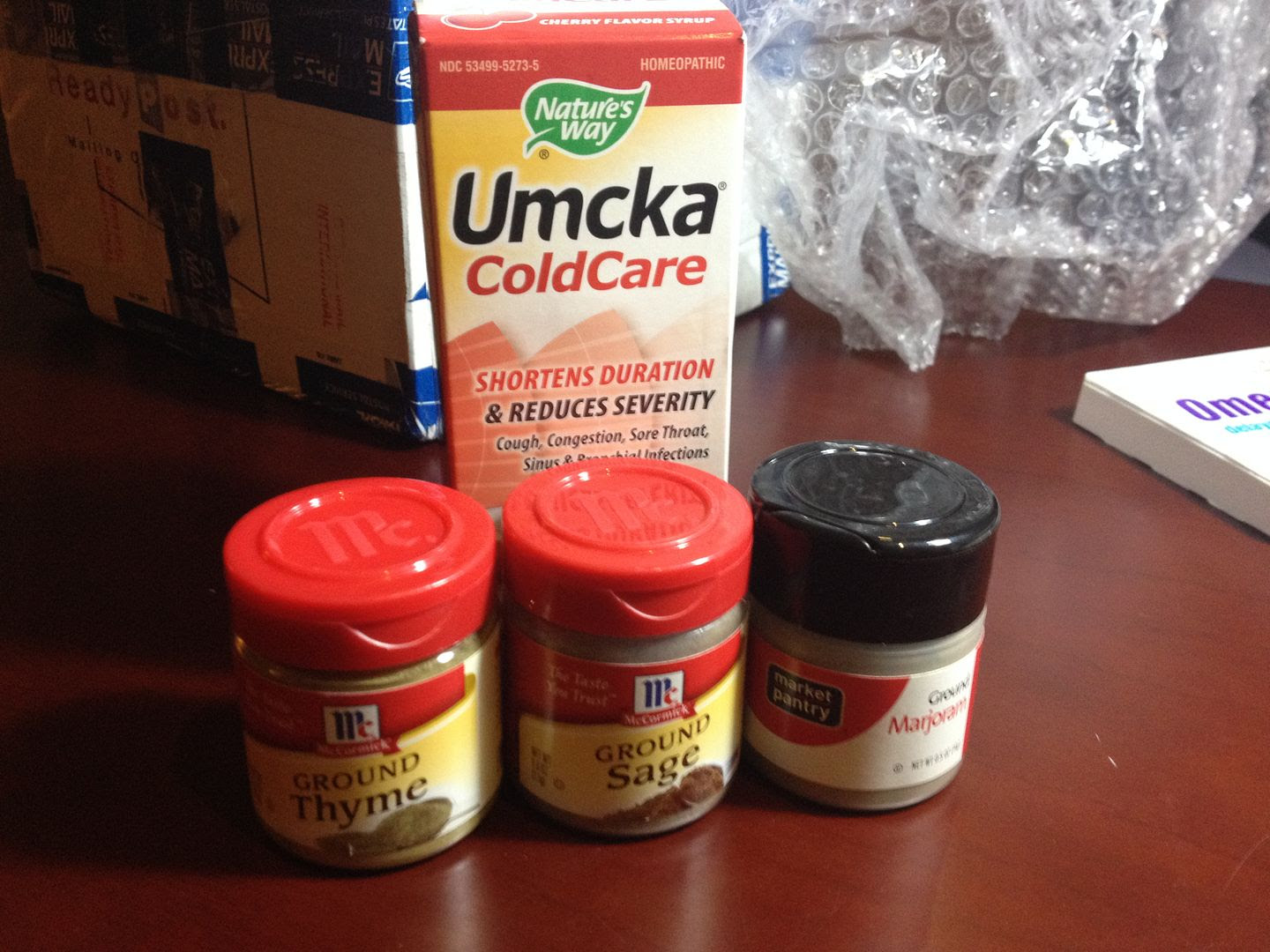 Umcka and Spices for Thanksgiving. Good timing. photo 2013-11-20190518_zpsca4a637f.jpg