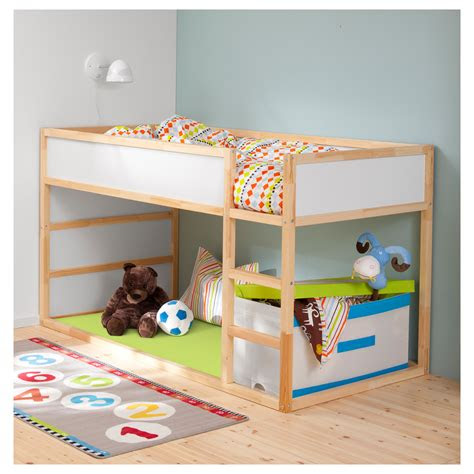 ikea kids loft bed  space efficient furniture idea