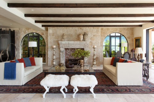Mediterranean Living Room by Newport Beach Tile, Stone & Countertops Neolithic Design Stone and Tile