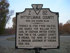 Pittsylvania County Historic Marker