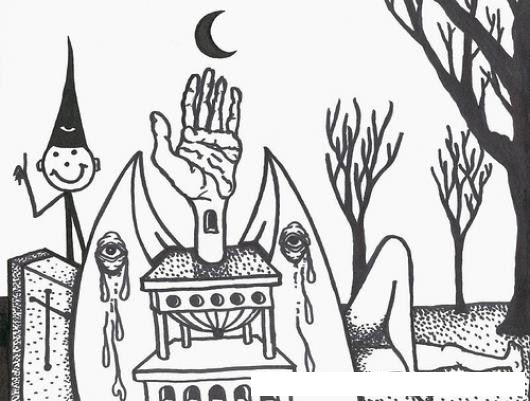 Dibujo De Terror Para Pintar Y Colorear Colorear Dibujos Varios