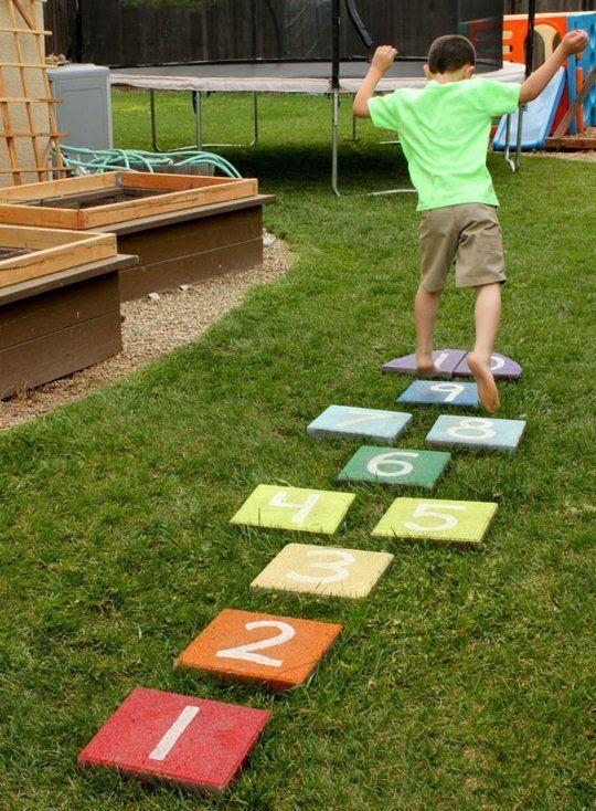 DIY Backyard Hopscotch Board