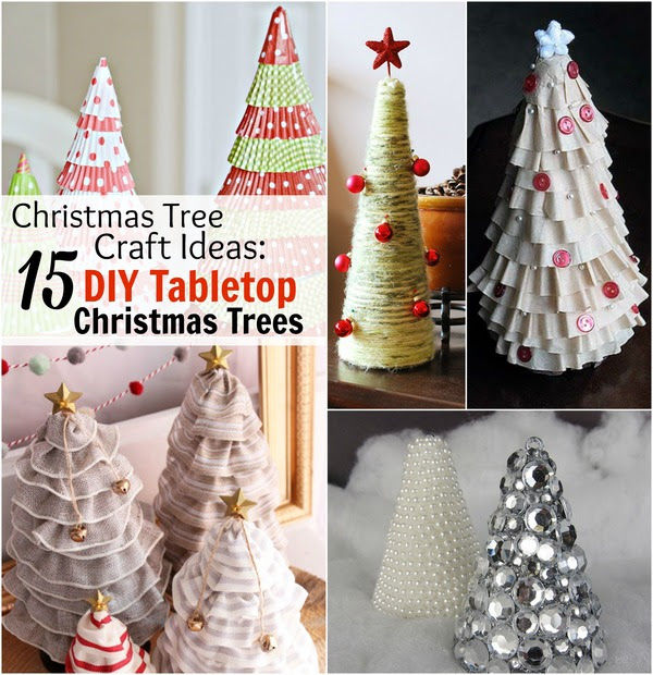 Christmas Tree Craft Ideas: 15 DIY Tabletop Christmas Tree Crafts